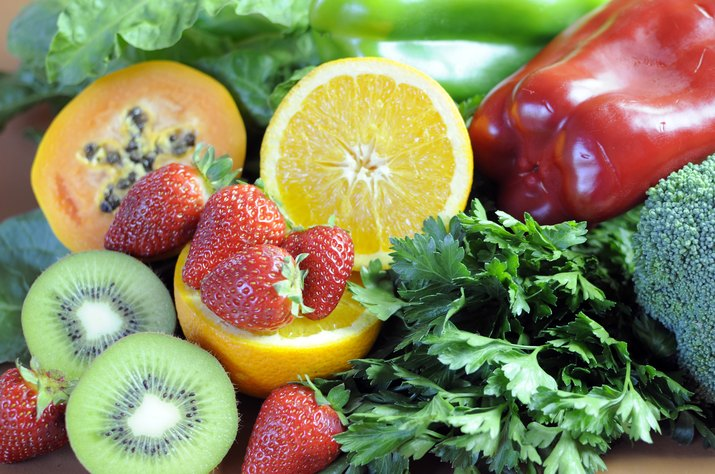 Sources of Vitamin C close up.
