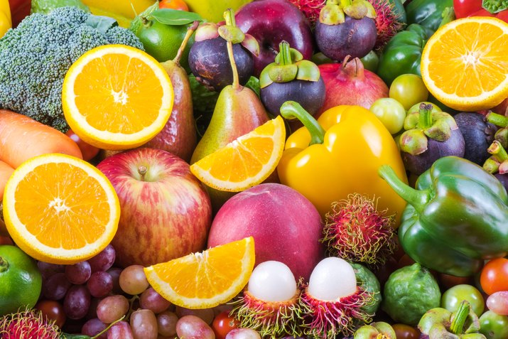 Nutritious fruit and vegetables organic for healthy