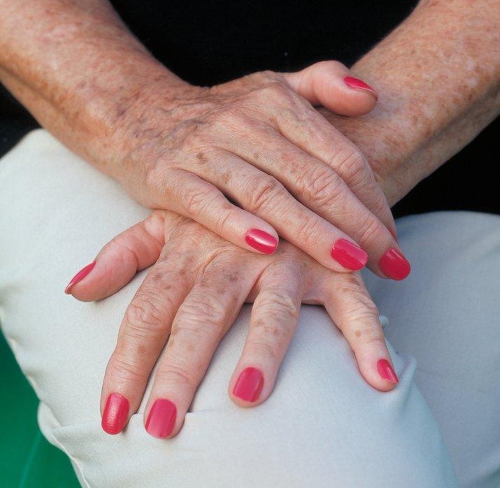 Elderly hands of woman