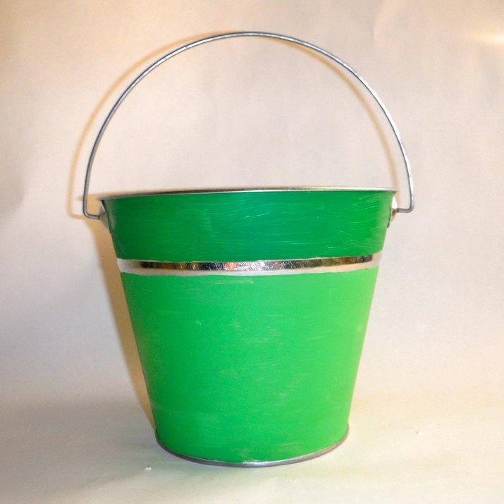 Fresh Herbs In Blue Bucket