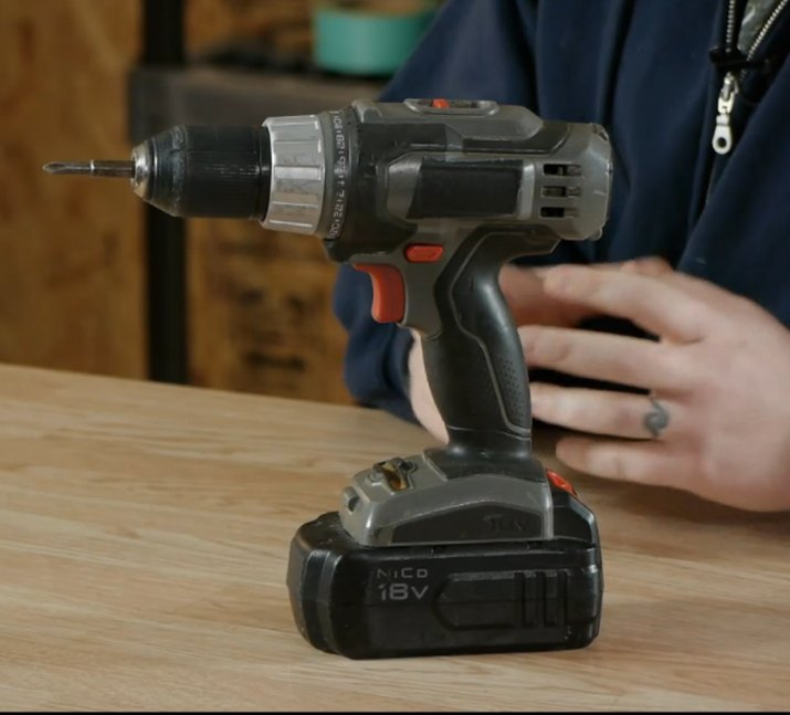 Man drilling with power tool