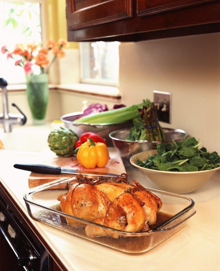 Food on kitchen counter