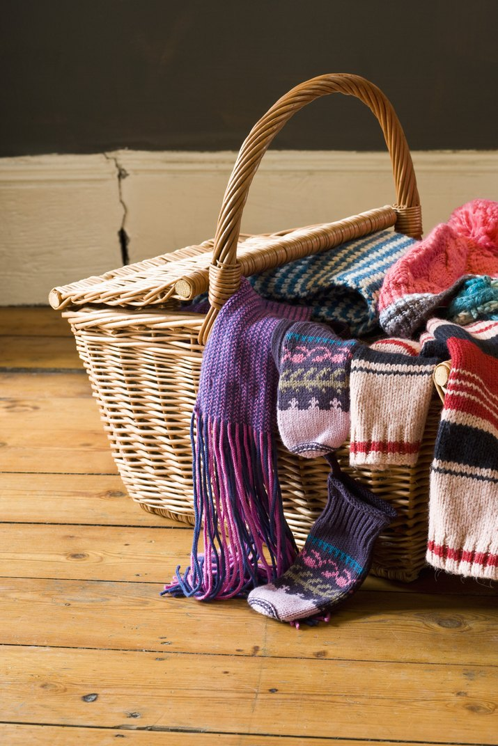 Clothing in basket