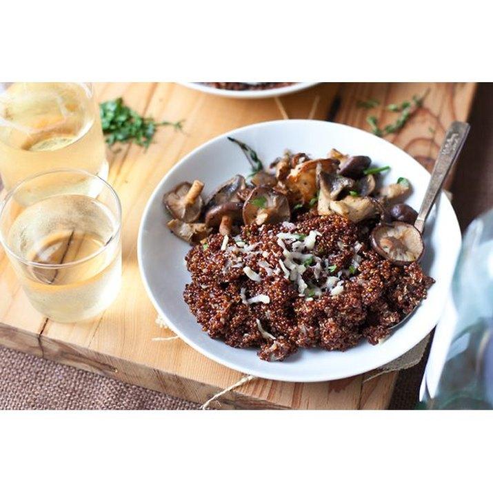 Wild Mushroom Quinoa Risotto