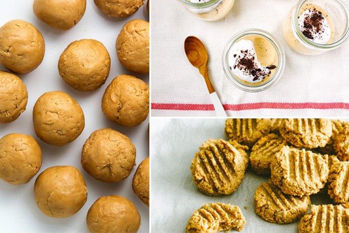 Balls of peanut butter, peanut butter mousse, peanut butter cookies.