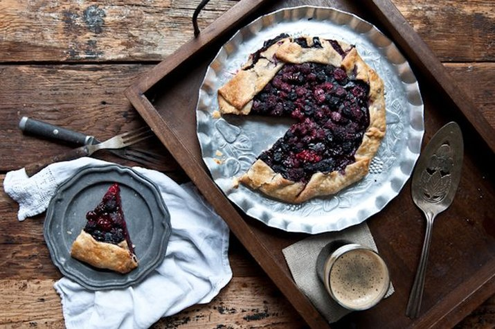 Make an easy mixed berry galette this holiday season.