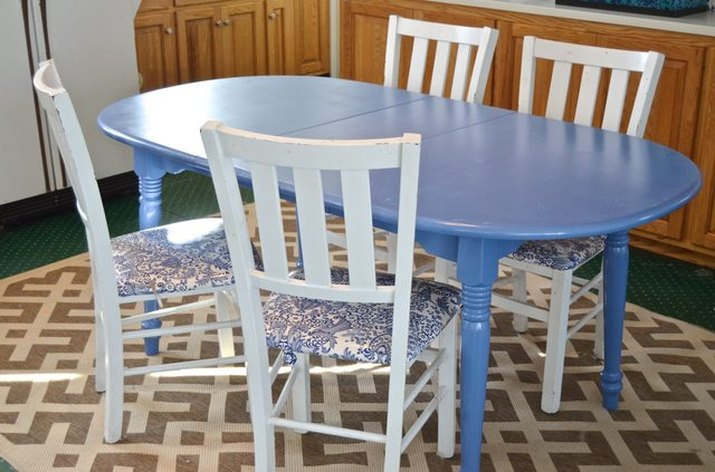 Painted kitchen table.
