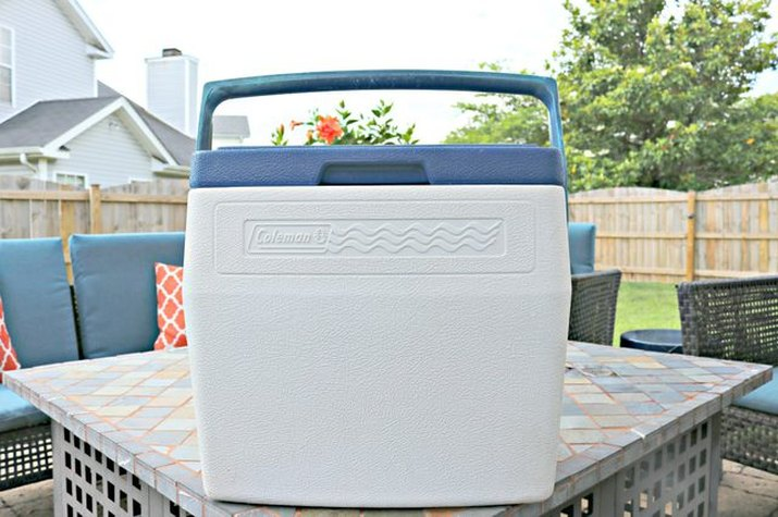 Clean Coleman cooler ready for summer