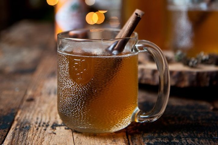 How to make hot cider with beer.