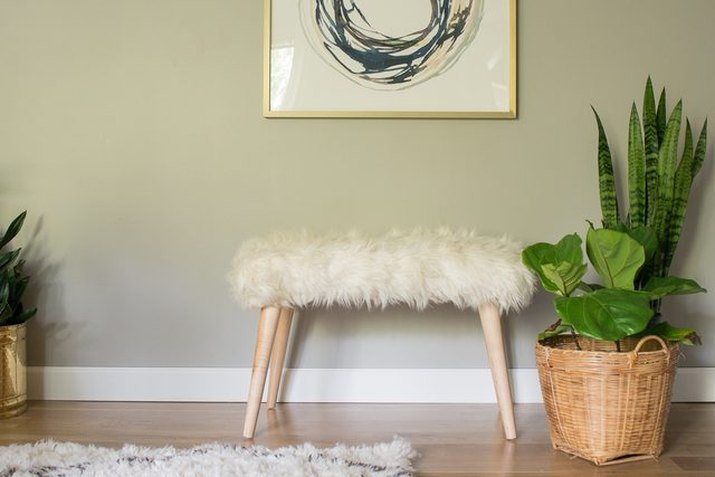upcycle a shag run into a chic bench