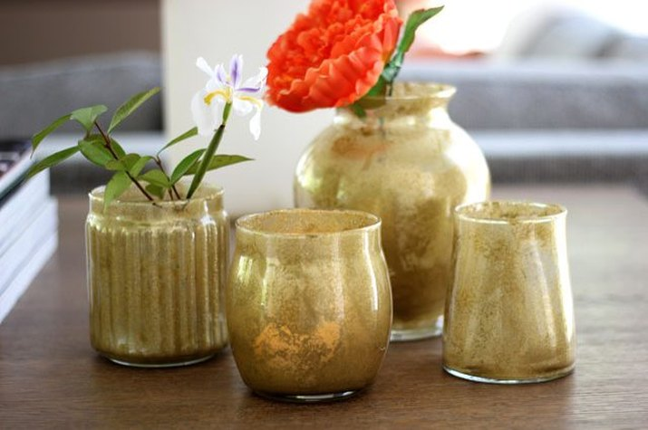 Create an expensive look for less with this faux mercury glass DIY craft.