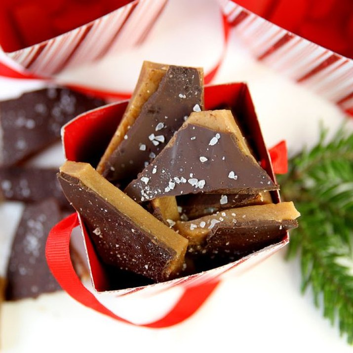 Make chocolate sea salt toffee as a gift this year.