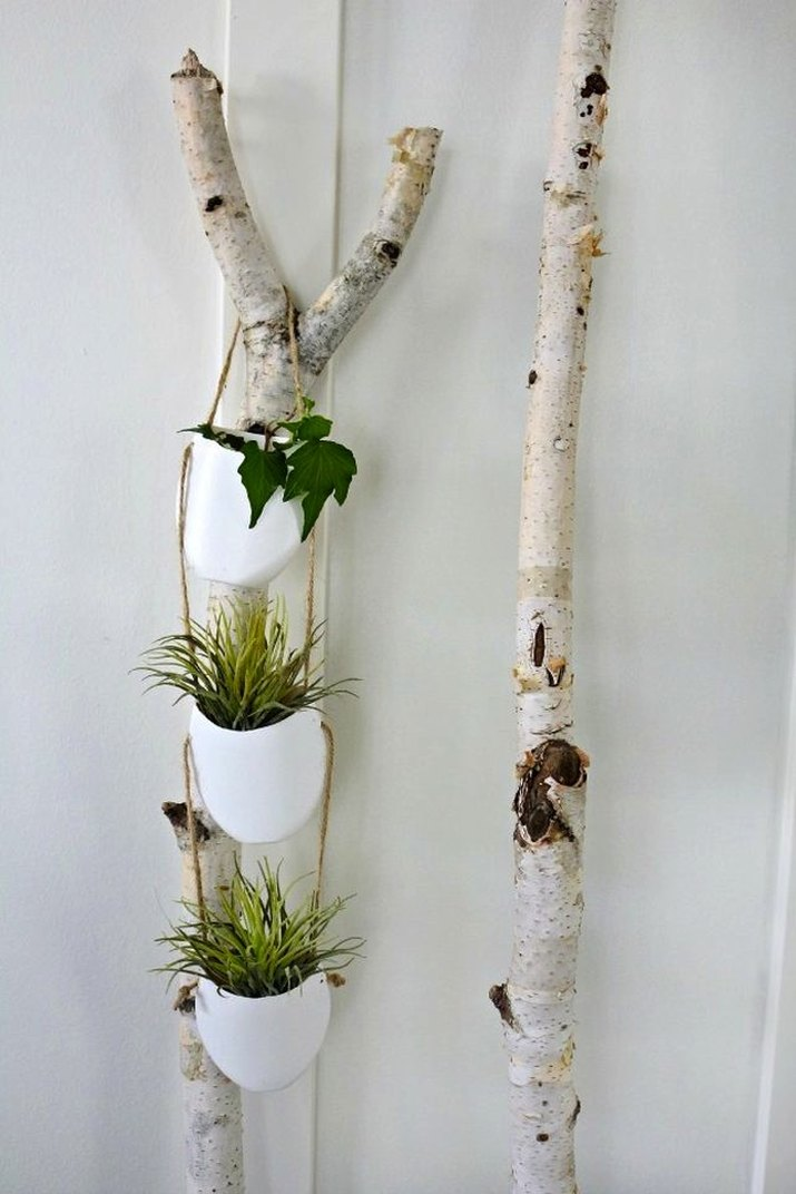 How to make hanging plant holders.
