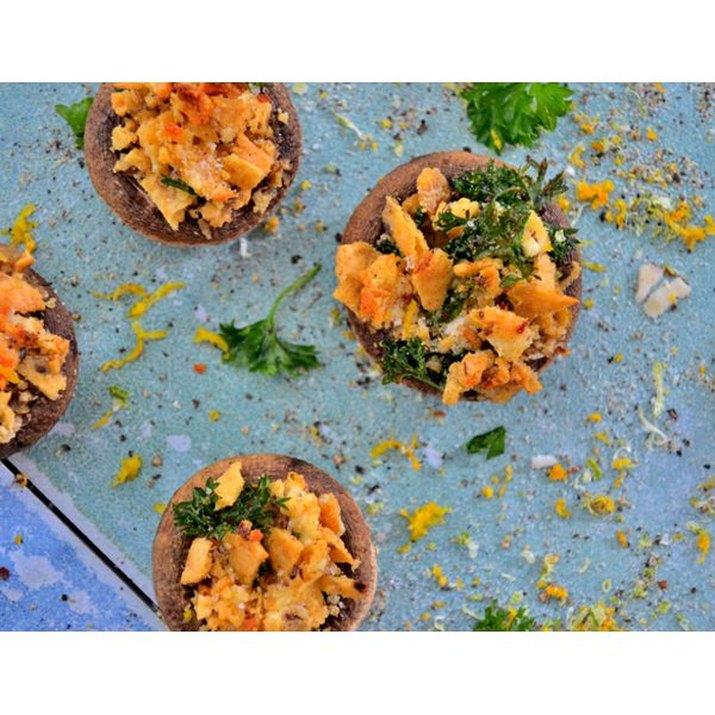 Vegan & Gluten Free Stuffed Mushrooms