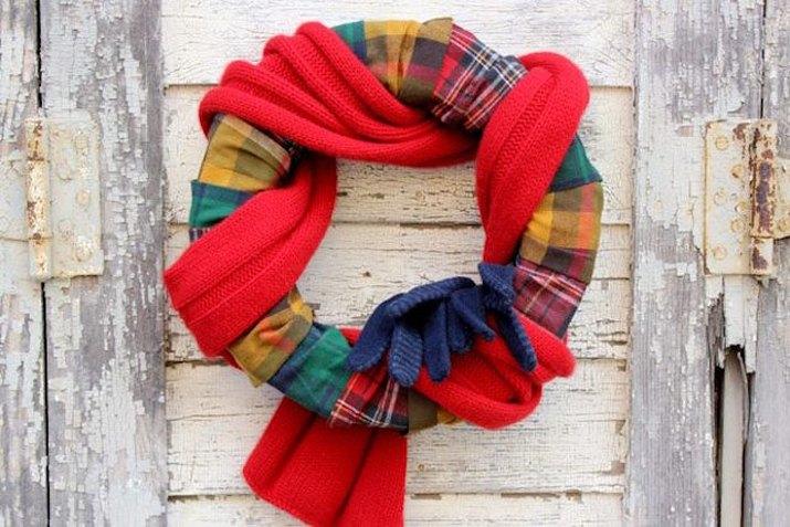 Cozy Scarf Wreath