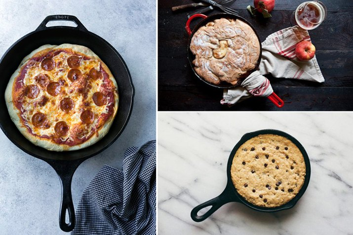pizza, apple cobbler and a cookie.