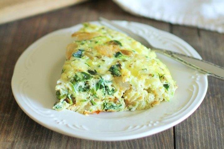 Zucchini and kale frittata