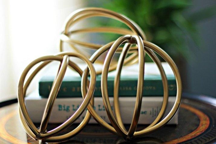 Gold Sculptural Spheres