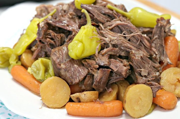 Mississippi pot roast cooked in an Instant Pot