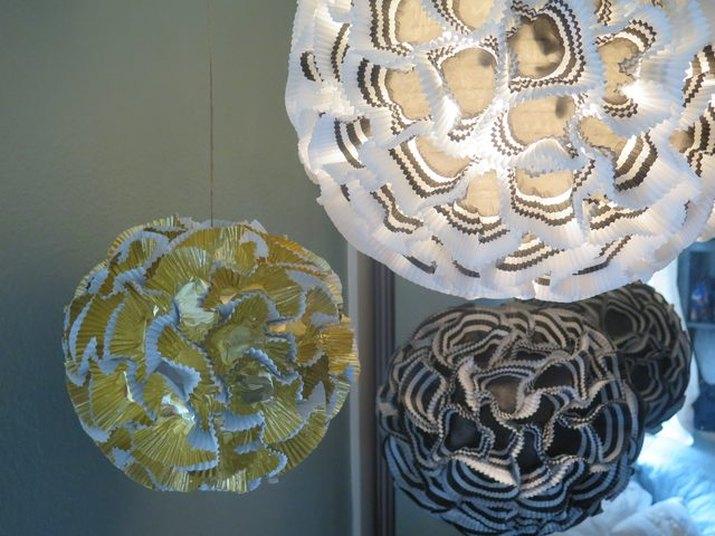DIY rhododendron chandelier
