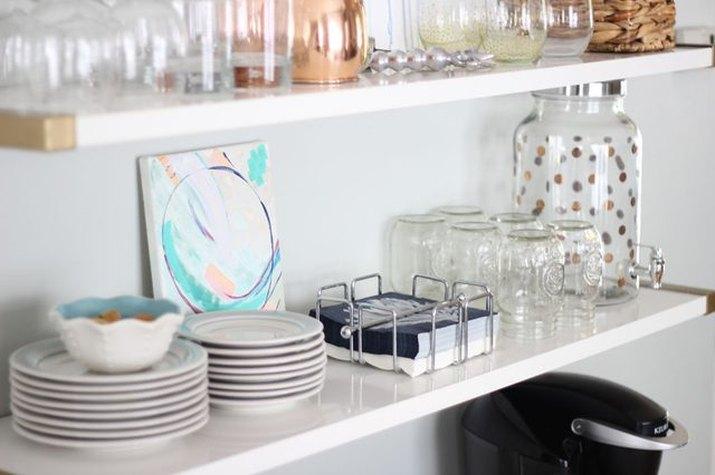 Modern kitchen shelving