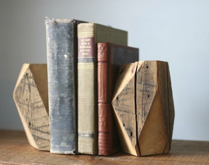 Wooden bookends