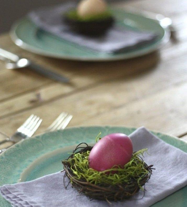 Homemade Easter Egg Coloring