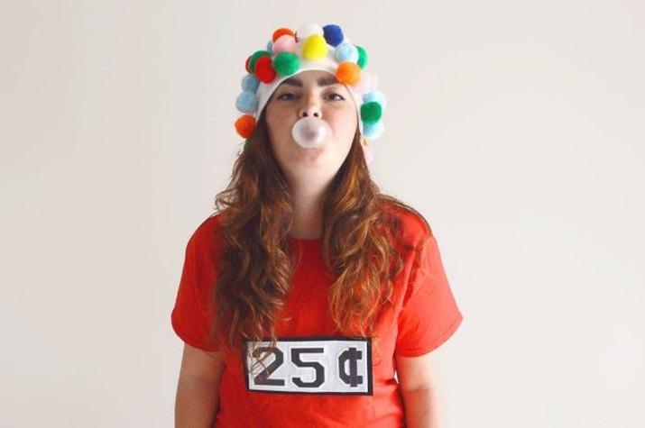 Gumball machine candy costume