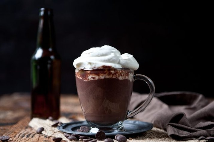 Make a boozy hot chocolate with beer whipped cream.