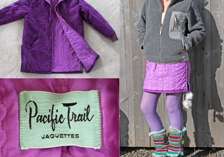 Make a snow skirt from an old jacket.