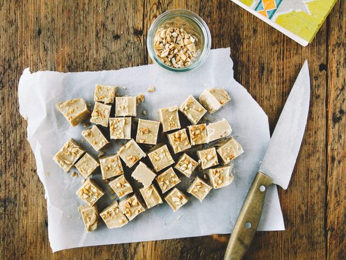 Peanut butter fudge made from only three ingredients.