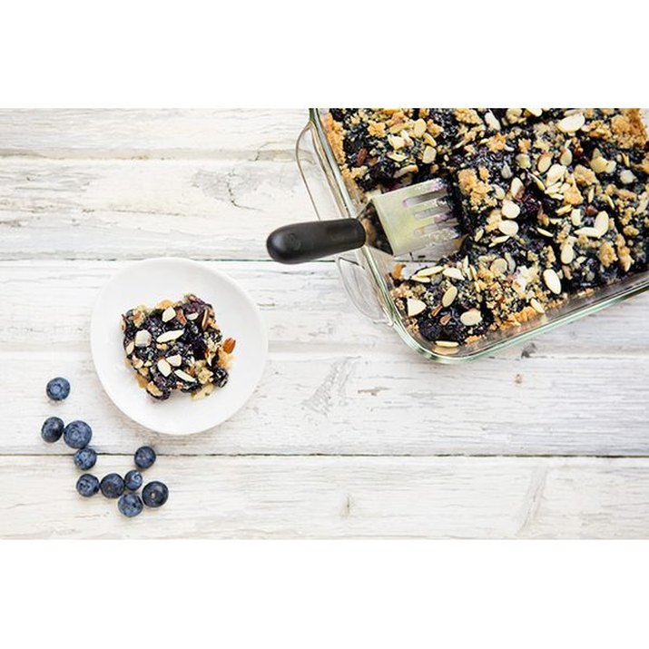 Coconut Almond Blueberry Crumb Bars