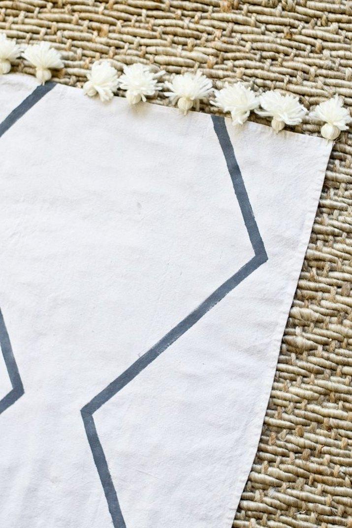DIY Drop Cloth Rug