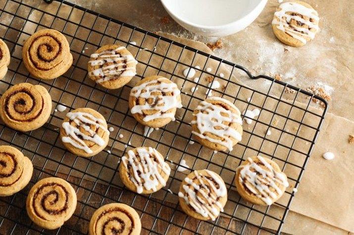 Sweet Potato Cinnamon Roll Cookies