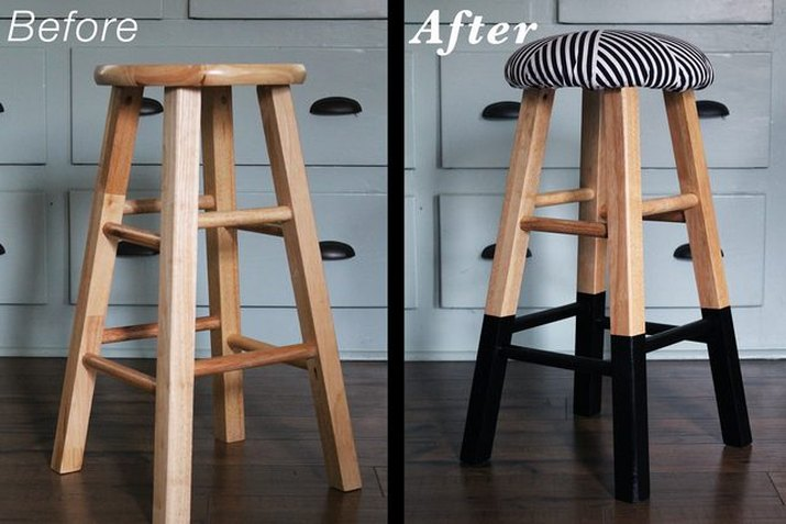 upholster old bar stools