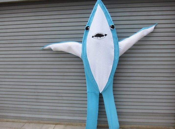 No-sew felt shark costume