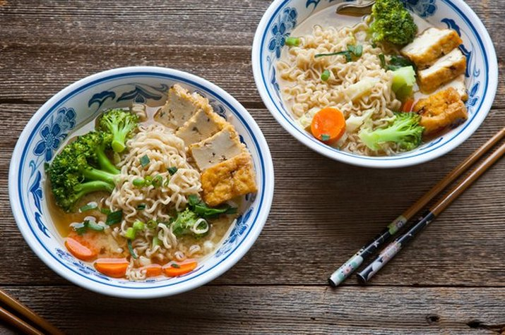 Miso Noodle Soup with Vegetables & Tofu