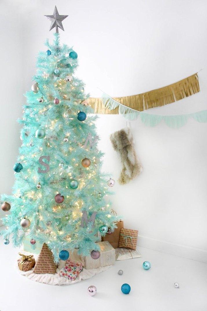 Modern spray-painted Christmas tree