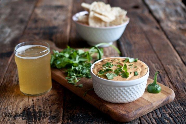 bowl of jalapeno beer cheese dip