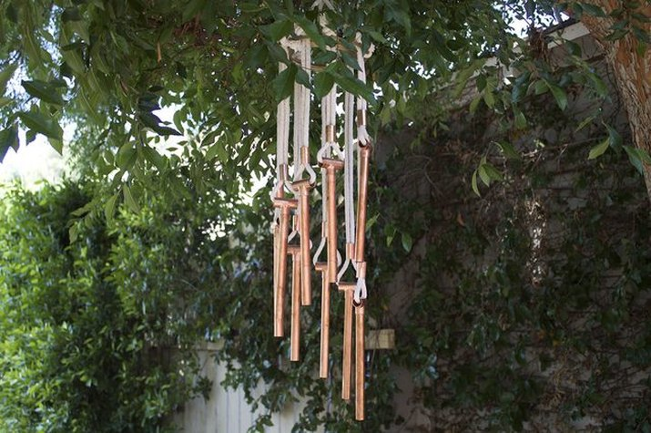 A set of wind chimes.