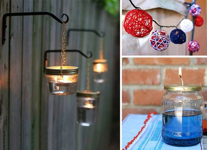 How to make your own outdoor party lights.