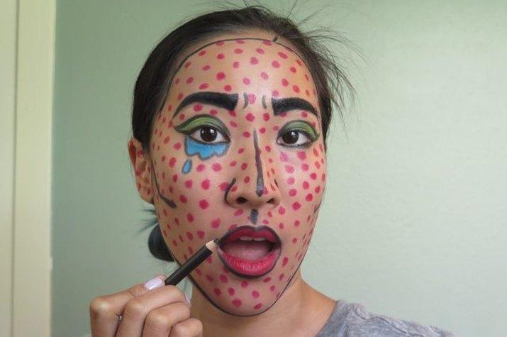 Lichenstein comic book pop art makeup