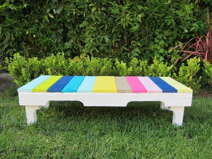 A pallet bench.