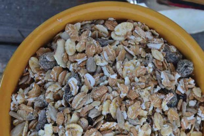 Bowls of homemade gluten-free muesli.