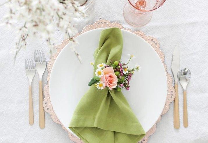 DIY Fresh Floral Napkin Rings
