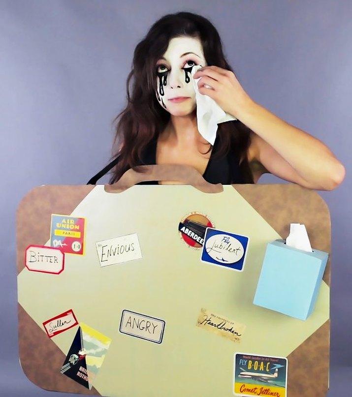 Make an emotional baggage pun costume