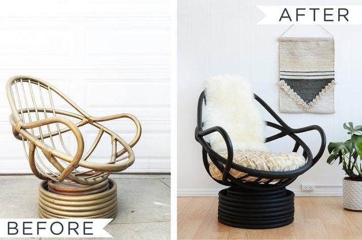 make over a rattan chair