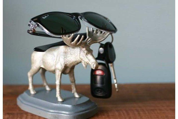 Quirky plastic animal key holder