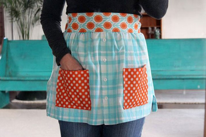 apron made from shirts