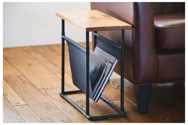Side table magazine rack